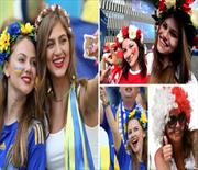 Ukrayna-Polonya maçında güzeller geçidi!