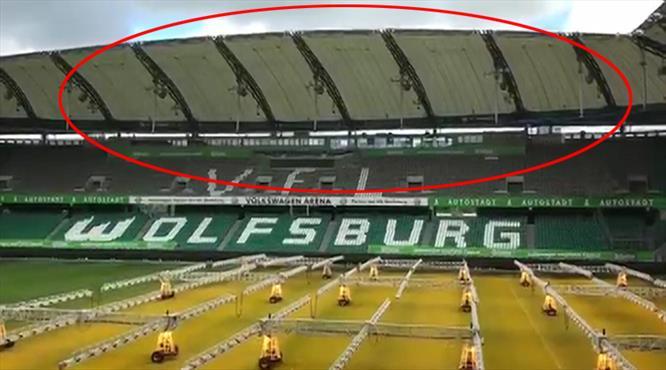 Wolfsburg'u korkutan görüntü