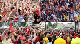 Belçikalılar tarihi zaferi böyle kutladı! (GALERİ)