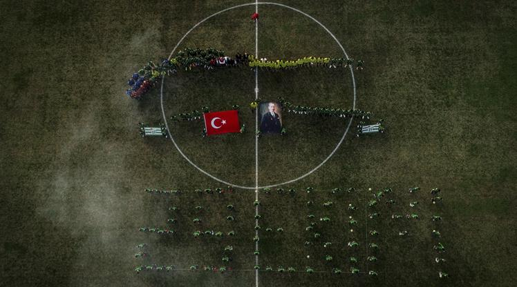 Bursaspor'dan 29 Ekim koreografisi