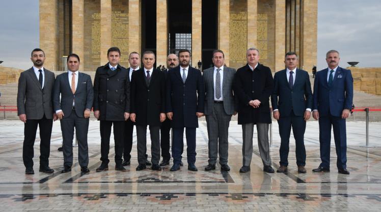 Ankaragücü yönetiminden Anıtkabir ziyareti