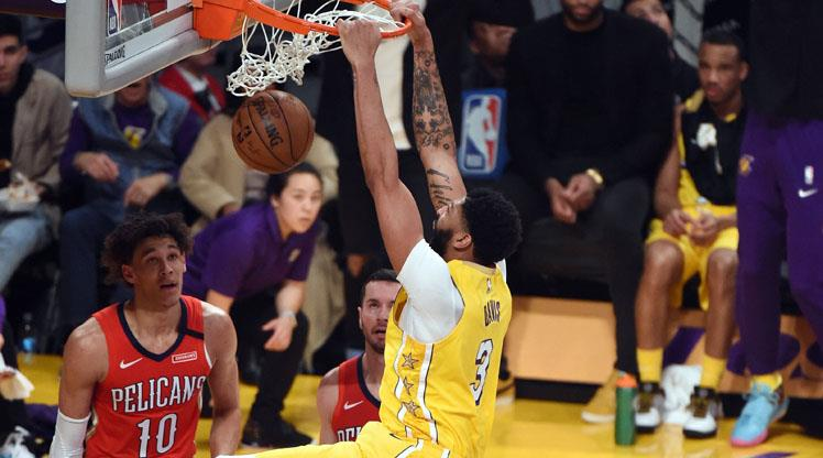 Anthony Davis coştu, Lakers kazandı