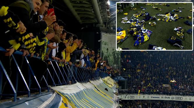 Fenerbahçe taraftarından anlamlı hareket