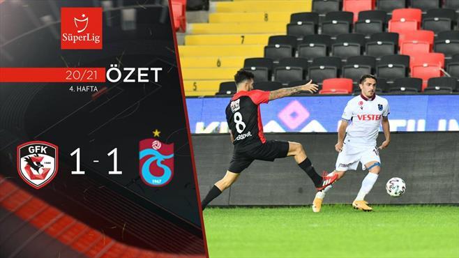 ÖZET | Gaziantep FK 1-1 Trabzonspor
