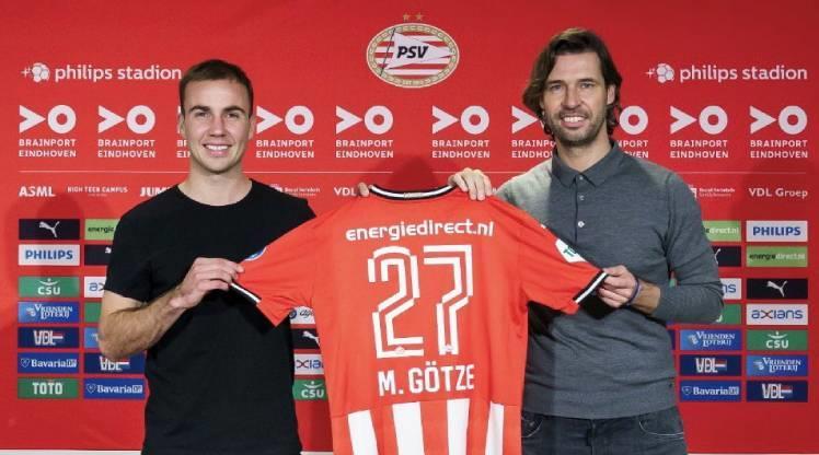 PSV, Mario Götze'yi renklerine bağladı