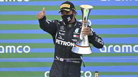 Hamilton, Schumacher'in rekorunu egale etti
