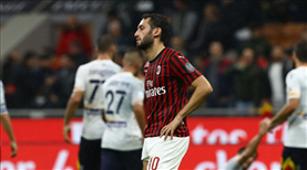 Hakan, Milan antrenmanında sakatlandı