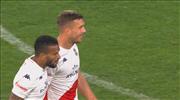 VİDEO | Podolski gelişine müthiş vurdu