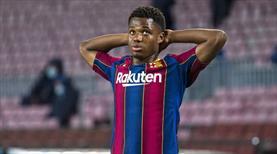 Barcelona'ya Ansu Fati'den kötü haber