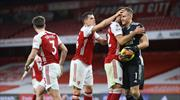 Arsenal'in yüzü derbide güldü