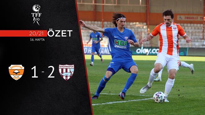 ÖZET | Adanaspor: 1-2 RH Bandırmaspor