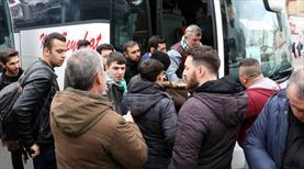 Kırklarelisporlu taraftarların Fenerbahçe coşkusu