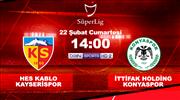 HK Kayserispor - İH Konyaspor (CANLI)