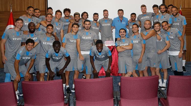 Trabzonspor idmanında sürpriz kutlama