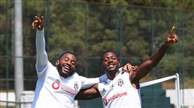 Beşiktaş ayak tenisiyle stres attı