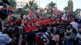 Başakşehir şampiyonluğunu kutluyor