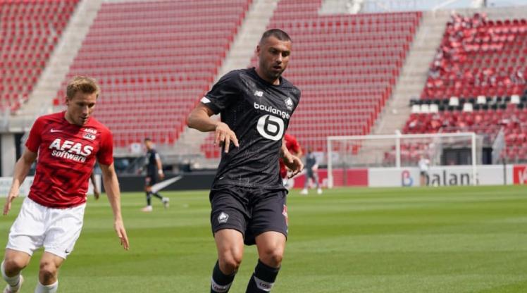Burak, Lille'de ilk maçına çıktı