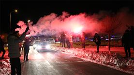 VİDEO   Fenerbahçe'ye coşkulu karşılama