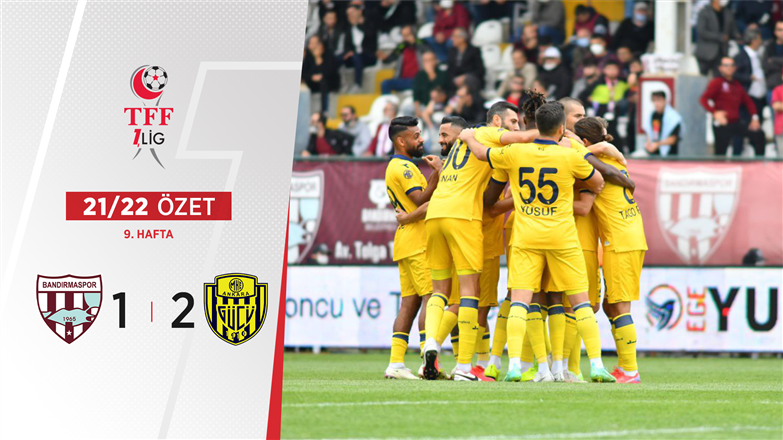 ÖZET | RH Bandırmaspor 1-2 MKE Ankaragücü