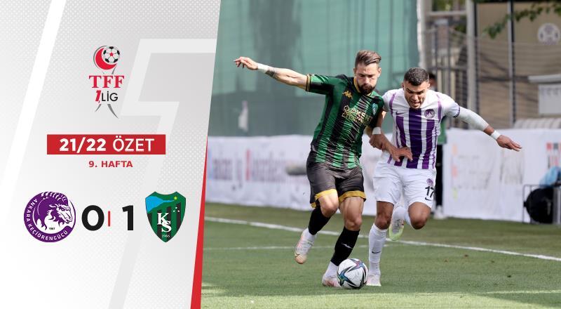 ÖZET | Ankara Keçiörengücü 0-1 Kocaelispor