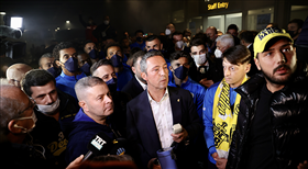 Fenerbahçe'ye havalimanında coşkulu karşılama