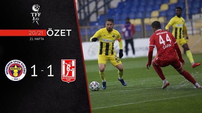 ÖZET | Menemenspor  1-1 AE Balıkesirspor