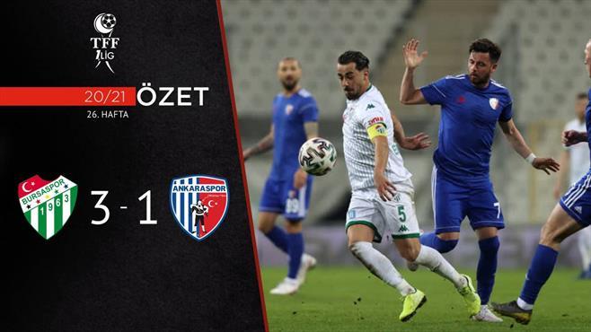ÖZET | Bursaspor 3-1 Ankaraspor