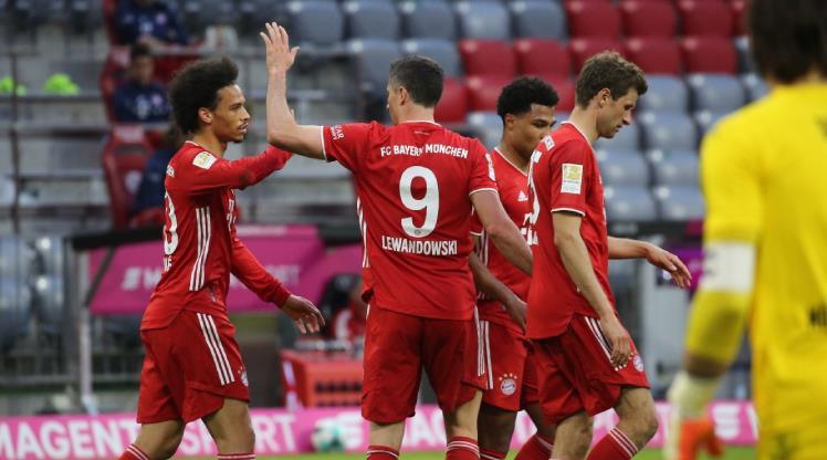 Bayern Münih şampiyonluğu 6 golle kutladı