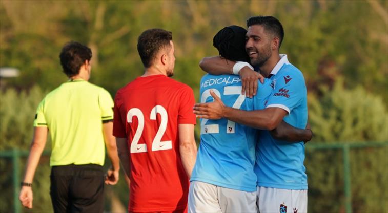 Trabzonspor'un hazırlık maçında gol düellosu