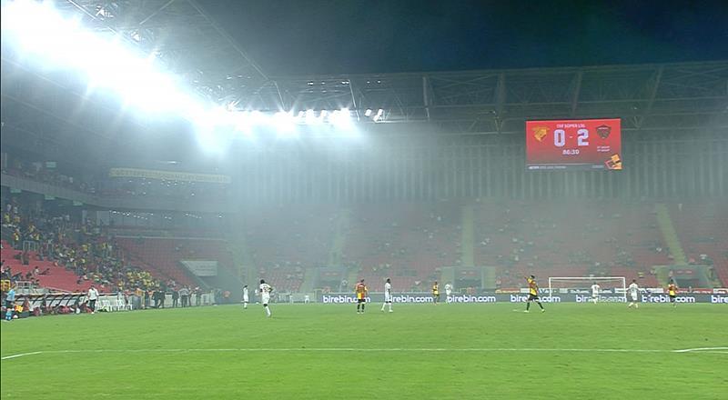 İzmir'de sahayı duman kapladı