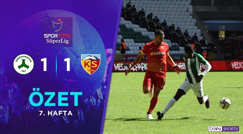 ÖZET | GZT Giresunspor 1-1 Y. Kayserispor