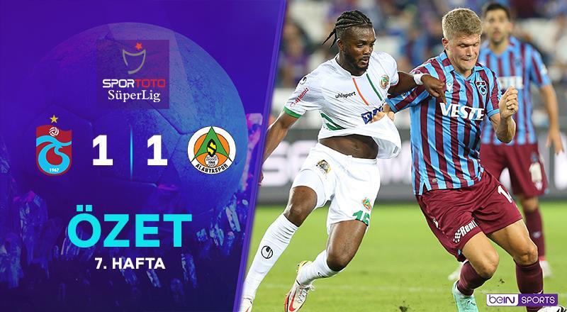 ÖZET | Trabzonspor 1-1 A. Alanyaspor