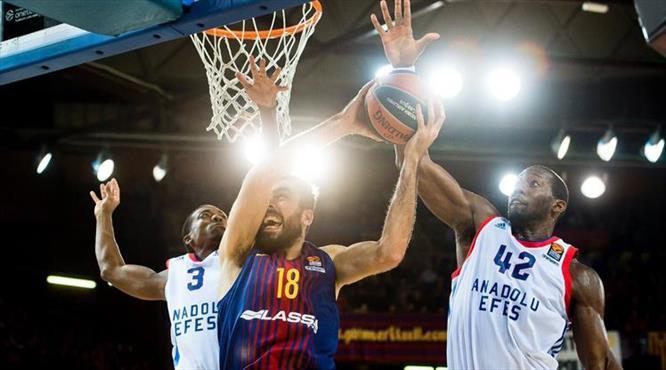 Efes Barça'ya patladı